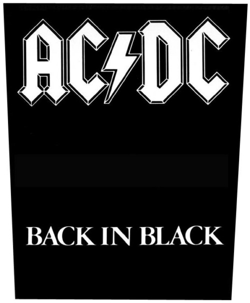 AC/DC AC DC - Back In Black officially licensed Giant Back Patch.