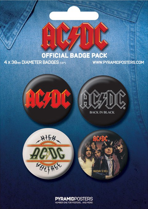 AC/DC AC DC -Official Badge Pack 1.