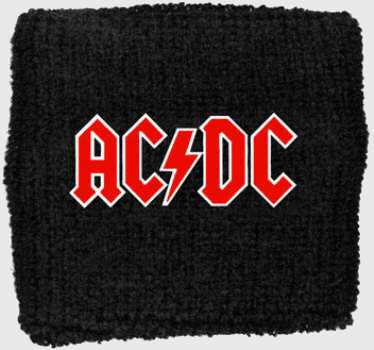 AC/DC AC DC - Classic Logo officially licensed Sweatband Wristband.