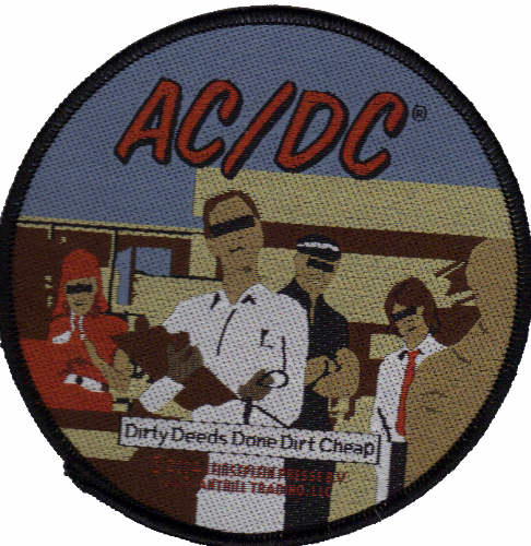 AC/DC AC DC - Dirty Deeds Done Dirt Cheap officially licensed Woven Sew on Patch.
