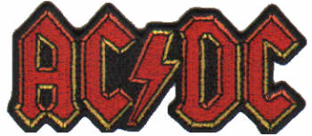 AC/DC AC DC - Shaped Logo officially licensed Woven Sew on Patch.