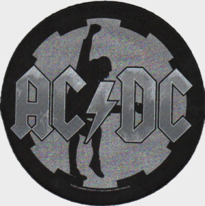 AC/DC AC DC - Angus Wheel Cog officially licensed Giant Back Patch.