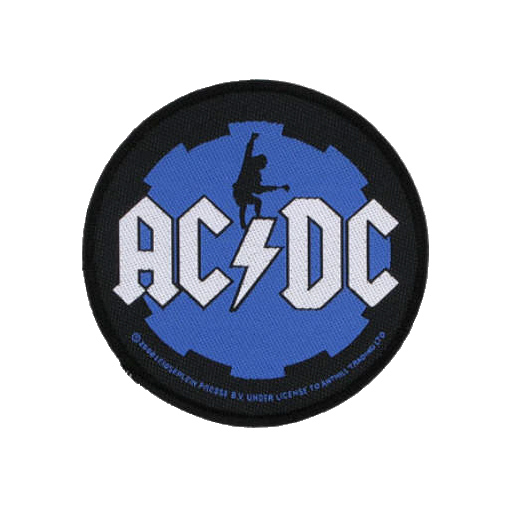 AC/DC AC DC - Angus Cog officially licensed Woven Sew on Patch.