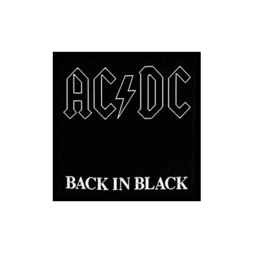 AC/DC AC DC - Back in Black officially licensed Woven Sew on Patch.