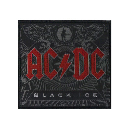 AC/DC AC DC - Black Ice officially licensed Woven Sew on Patch.