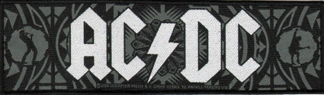 AC/DC AC DC - Brian & Angus officially licensed Woven Patch.