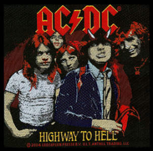 AC/DC AC DC - Highway To Hell officially licensed Woven Sew on Patch.