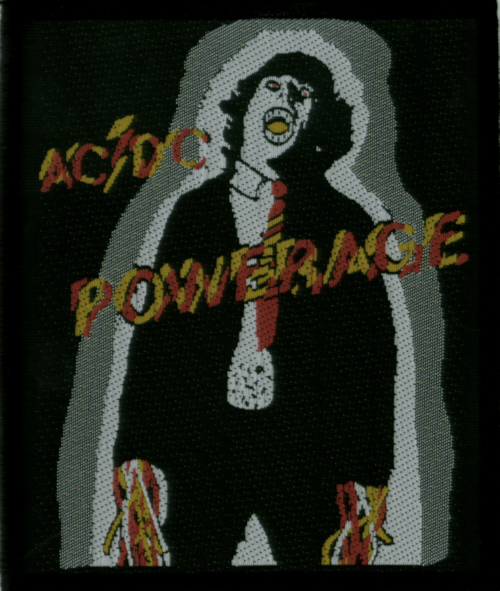 AC/DC AC DC - Powerage officially licensed Woven Sew on Patch.