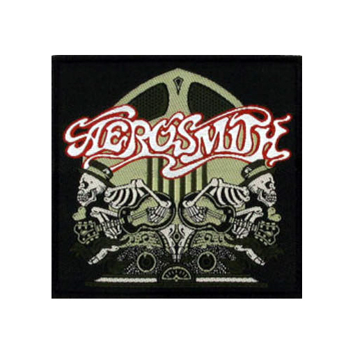 Aerosmith - Skeletons Logo officially licensed Woven Sew on Patch.