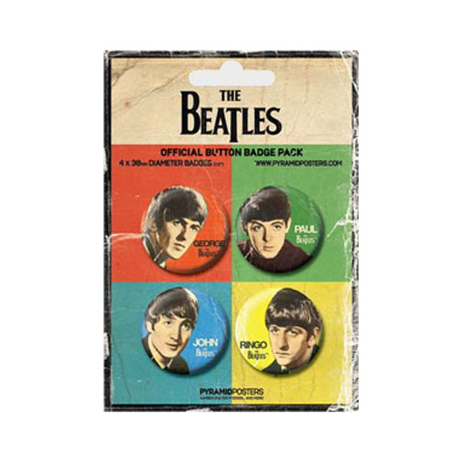 The Beatles -Official John Paul George and Ringo Badge Pack.