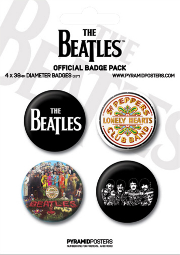 The Beatles -Official White Badge Pack.