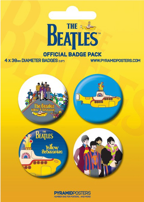 The Beatles -Official Yellow Submarine Badge Pack.