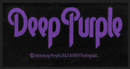 Deep Purple - Official Logo Woven Sew on Patch.