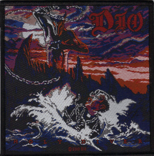 Ronnie James Dio - Holy Diver officially licensed Woven Sew on Patch.