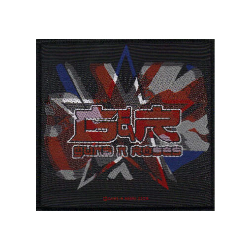 Guns n Roses - Union Jack Logo officially licensed Woven Sew on Patch.
