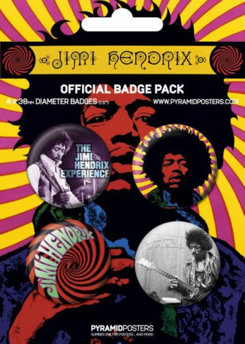 Jimi Hendrix Experience- Official Button Badge Pack.