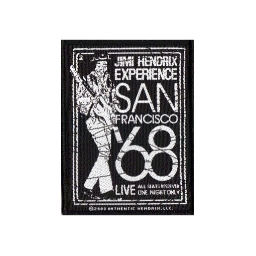 Jimi Hendrix - San Francisco Oficially licensed Woven Sew on Patch.