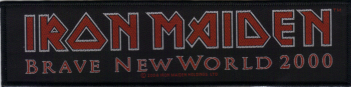 Iron Maiden - Brave New World Oficially licensed Woven Sew on Patch.