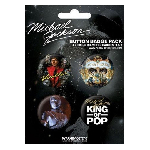 Michael Jackson - King of Pop Official Badge Pack.