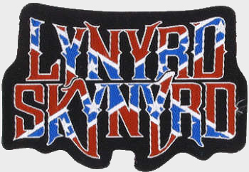 Lynyrd Skynyrd - Confederate Logo officially licensed Woven Sew on Patch.