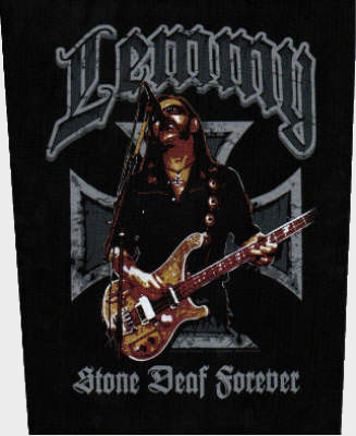 Lemmy Motorhead - Stone Deaf Forever officially licensed Giant Back Patch.