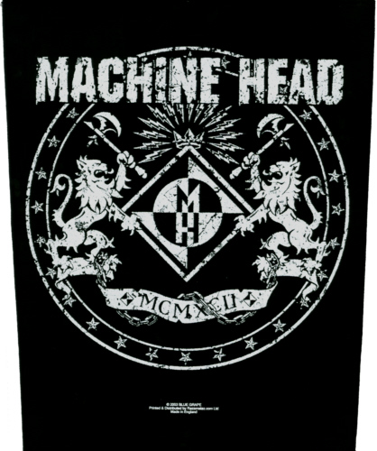 Machine Head - Crest and Logo officially licensed Giant Back Patch.