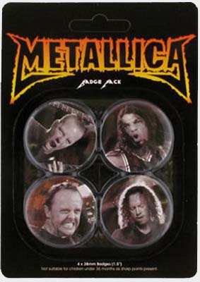 Metallica - Faces - Official Badge Pack.