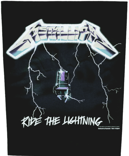 Metallica - Ride the Lightning officially licensed Giant Back Patch.