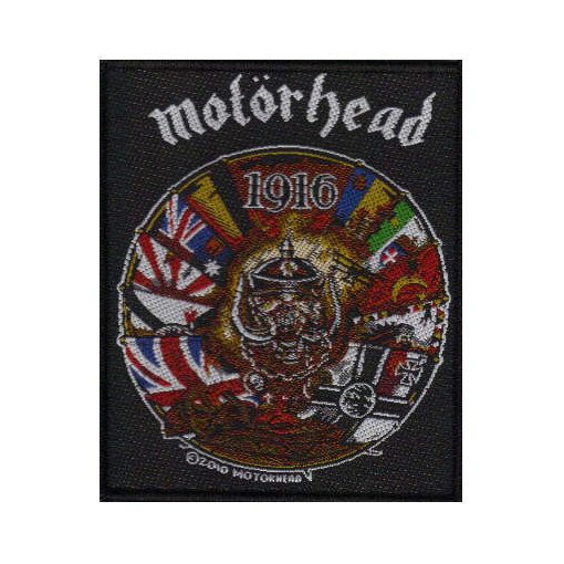 Motorhead - 1916 officially licensed Woven Sew on Patch.