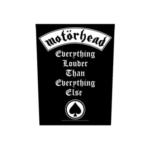 Motorhead - Everything Louder Than Everything Else officially licensed Giant Back Patch.
