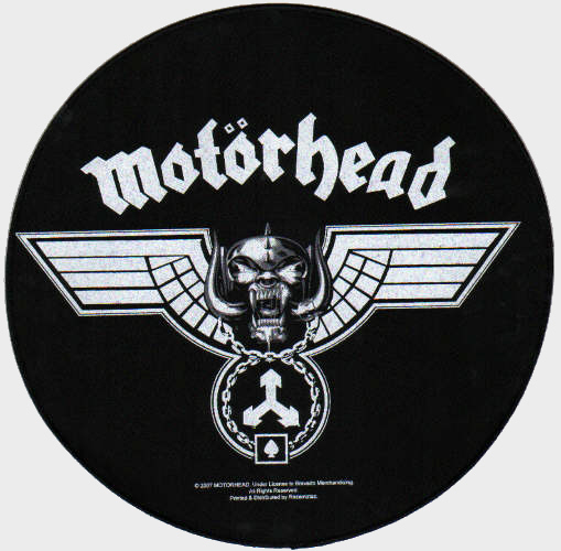 Motorhead - Hammered Circular officially licensed Giant Back Patch.