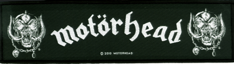 Motorhead - War Pigs officially licensed Superstrip Woven Patch.