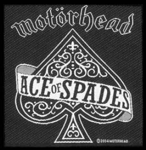 Motorhead - Ace Of Spades officially licensed Woven Sew on Patch.