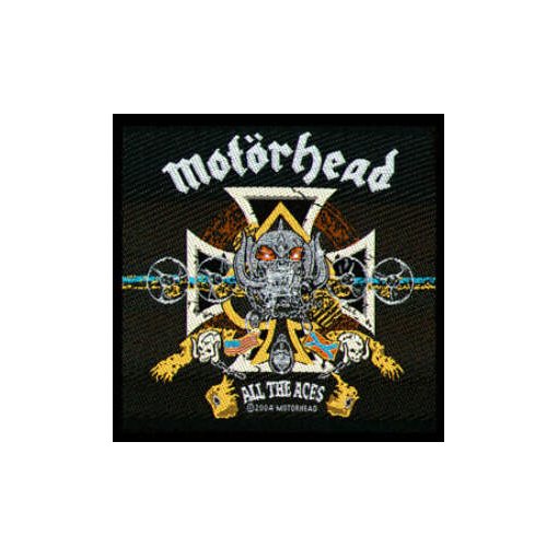 Motorhead - All The Aces officially licensed Woven Sew on Patch.