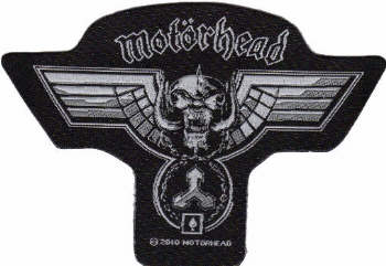 Motorhead - Hammered Shaped officially licensed Woven Sew on Patch.