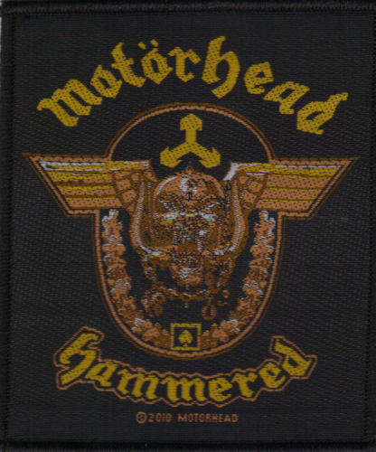 Motorhead - Hammered officially licensed Woven Sew on Patch.