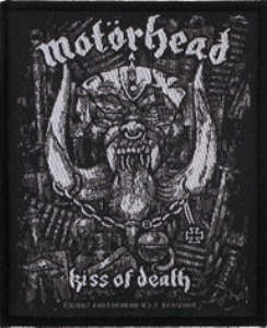 Motorhead - Kiss Of Death officially licensed Woven Sew on Patch.