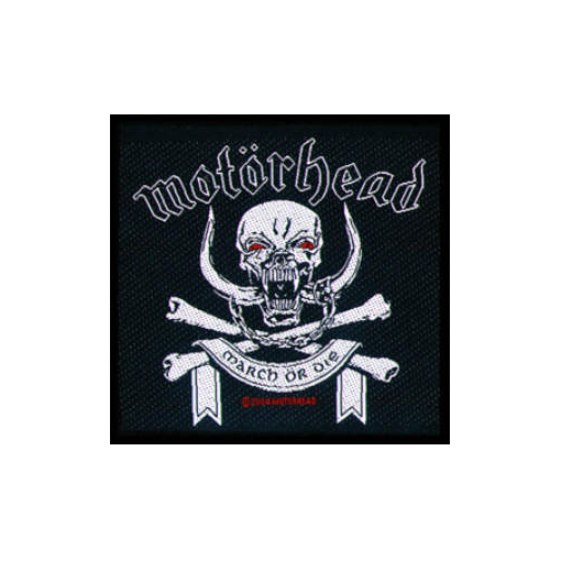 Motorhead - March Or Die officially licensed Woven Sew on Patch.