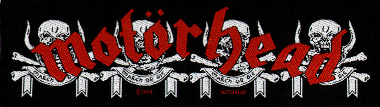 Motorhead - March or Die officially licensed Woven Patch.