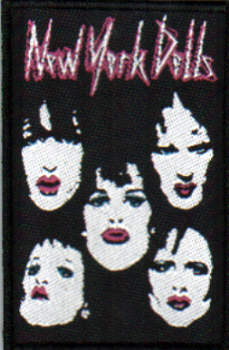 New York Dolls - Faces officially licensed Woven Sew on Patch.