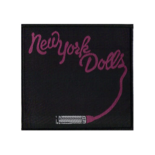 New York Dolls - Lipstick Logo officially licensed Woven Sew on Patch.