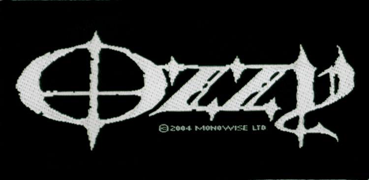 Ozzy Osbourne (Black Sabbath) - Logo officially licensed Woven Sew on Patch.