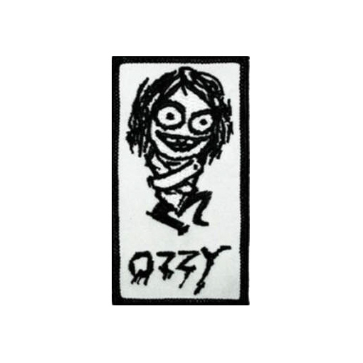 Ozzy Osbourne (Black Sabbath) - Straight Jacket officially licensed Woven Sew on Patch.