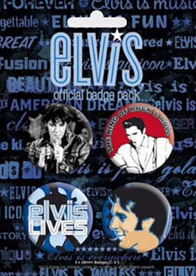 Elvis Presley - Elvis Lives Official Badge Pack.