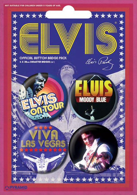 Elvis Presley - Viva Las Vegas Official Badge Pack.