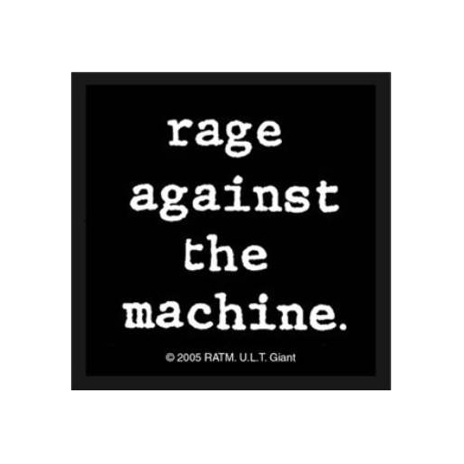 Rage Against The Machine (RATM) - Small Type Lower Case officially licensed Woven Sew on Patch.