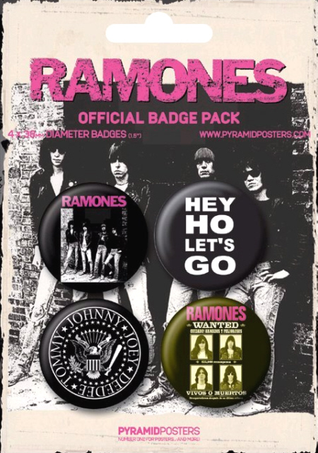 Ramones -Official Badge Pack.