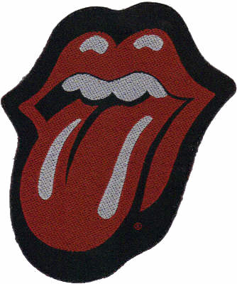 The Rolling Stones - Tongue Logo Shaped officially licensed Woven Sew on Patch.