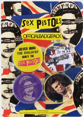 Sex Pistols Official Badge Pack.