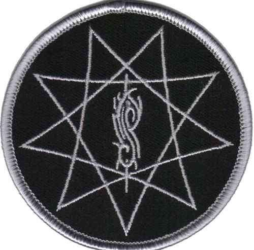 Slipknot - Web Circular officially licensed Woven Iron Sew on Patch.